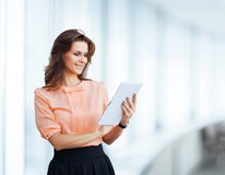 Attractive, successful business woman Stock Photos