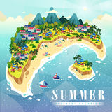 Attractive summer poster Stock Image