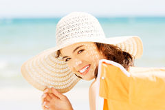 Attractive summer woman portrait. Stock Photography