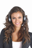 Attractive support technician girl Royalty Free Stock Photos
