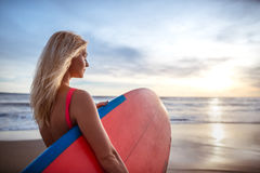 Attractive surfer Stock Photography