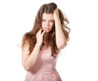Attractive surprised excited smile teenage girl Royalty Free Stock Images
