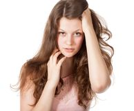 Attractive surprised excited smile teenage girl Royalty Free Stock Photos