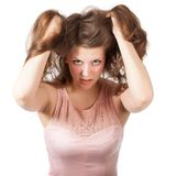Attractive surprised excited smile teenage girl Royalty Free Stock Photography