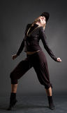 Attractive svelte blond dancing Royalty Free Stock Photos
