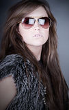 Attractive Teen in Aviator Shades Stock Photography