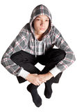 Attractive teen boy sitting Royalty Free Stock Image