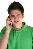Attractive Teen with Cellphone Stock Photos