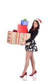 Attractive teen with present Royalty Free Stock Images