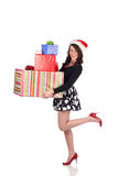 Attractive teen with present Stock Photos