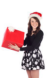 Attractive teen with present Royalty Free Stock Photography