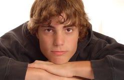 Attractive teenage boy Stock Images
