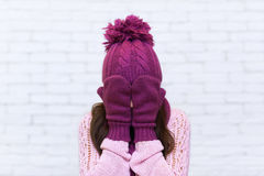 Attractive Teenage Girl Holding Arms Covering Face Emotional Royalty Free Stock Images