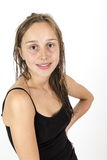 Attractive teenage girl with long Royalty Free Stock Images