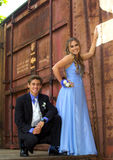 Attractive Teenage Prom Couple Royalty Free Stock Images