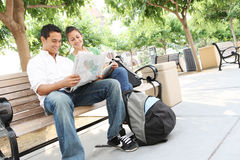 Attractive Teenage Students at College Royalty Free Stock Photos