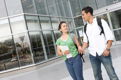 Attractive Teenage Students at College Stock Photo