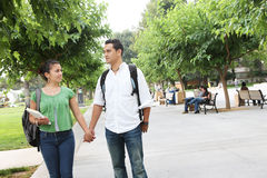Attractive Teenage Students at College Stock Image