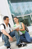 Attractive Teenage Students at College Royalty Free Stock Image