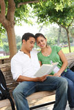 Attractive Teenage Students at College Royalty Free Stock Photography