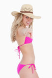 Attractive teenager in beachwear Royalty Free Stock Photography