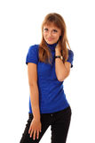 Attractive teenager girl friendly Royalty Free Stock Image