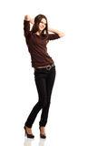 Attractive teenager girl full length Royalty Free Stock Image