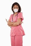 Attractive thirties asian woman doctor nurse Royalty Free Stock Photos