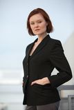 Attractive thirties caucasian businesswoman Royalty Free Stock Photo