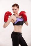 Attractive thirties caucasian woman exercising Stock Photo