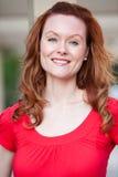 Attractive thirties caucasian woman smiling Stock Photos
