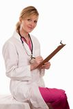 Attractive thirties lady blonde female doctor Royalty Free Stock Photo