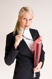 Attractive thoughtful business woman. Royalty Free Stock Photos