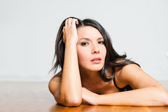 Attractive thoughtful young woman Royalty Free Stock Photos