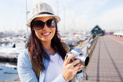 Attractive tourist harbour Royalty Free Stock Photography