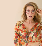 Attractive trendy woman fashion model Royalty Free Stock Image