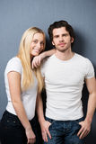 Attractive trendy young couple Stock Image