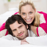 Attractive trendy young couple Royalty Free Stock Images