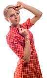 Attractive trendy young woman with short blond hair Royalty Free Stock Image