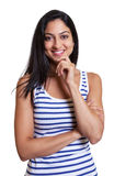 Attractive turkish woman in a striped shirt Stock Image