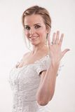 Attractive twenties blond caucasian woman bride Royalty Free Stock Photo