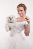 Attractive twenties blond caucasian woman bride Stock Photo