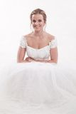 Attractive twenties caucasian blonde bride Stock Photography