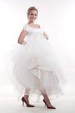Attractive twenties caucasian blonde bride Royalty Free Stock Photos