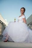 Attractive twenties caucasian blonde bride Royalty Free Stock Images