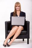Attractive twenties caucasian blonde businesswoman Royalty Free Stock Images