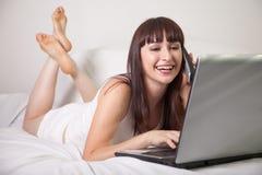 Attractive twenties caucasian brunette woman Royalty Free Stock Images