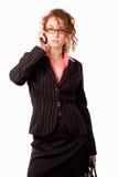 Attractive twenties caucasian brunette woman Stock Photos