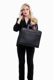 Attractive twenties caucasian business woman Stock Photography