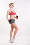 Attractive twenties caucasian fitness woman Royalty Free Stock Images